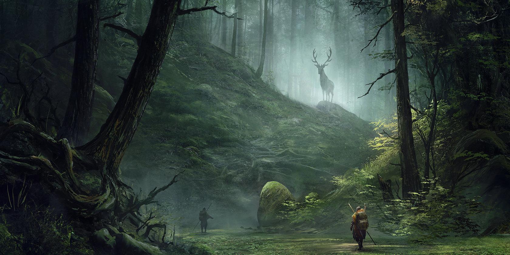 Artstation - Meeting In Woods Sergey Averkin