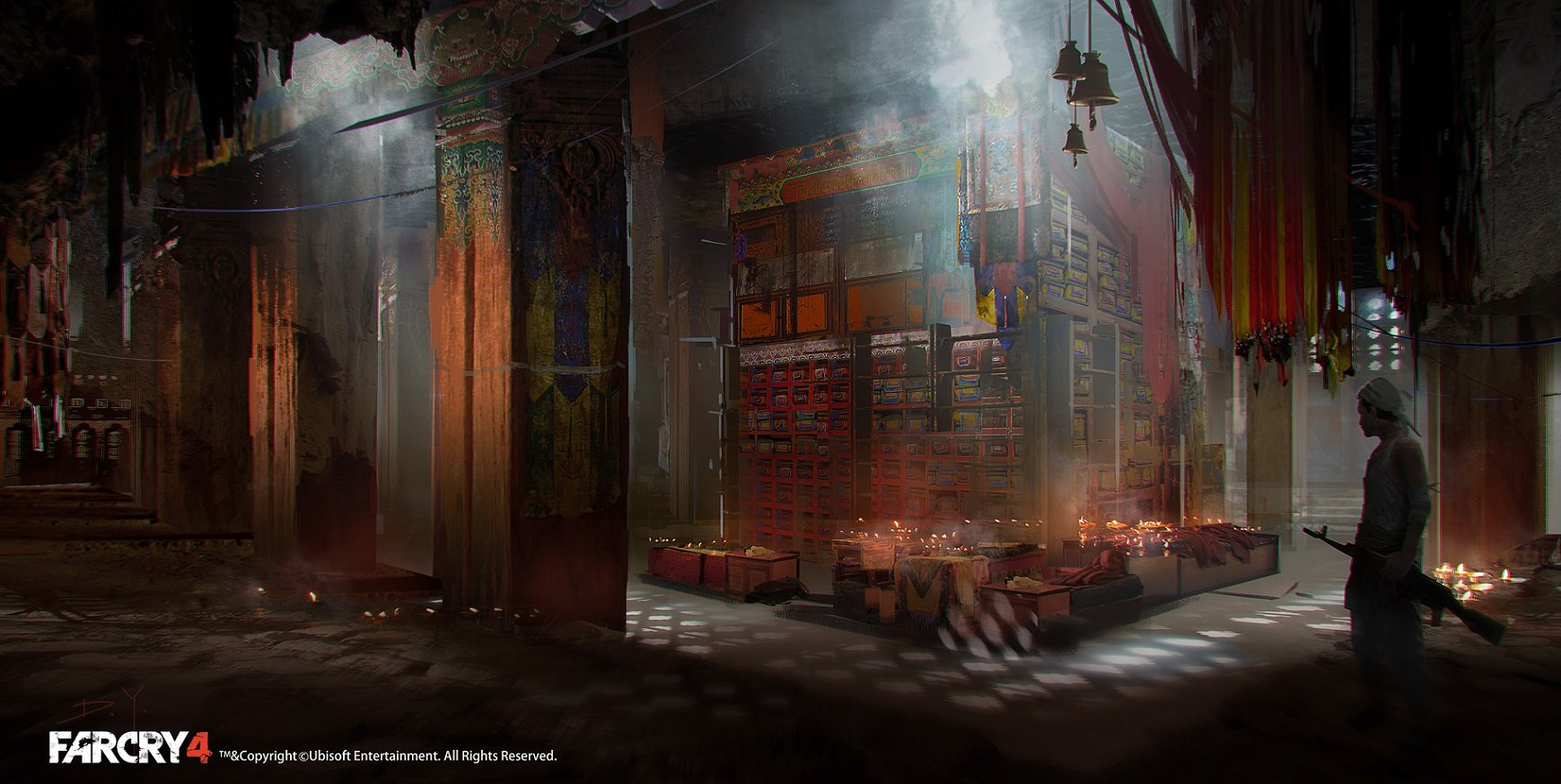 3d Hd Lab Wallpapers Artstation Farcry4 Concept Art Temple Inside Library