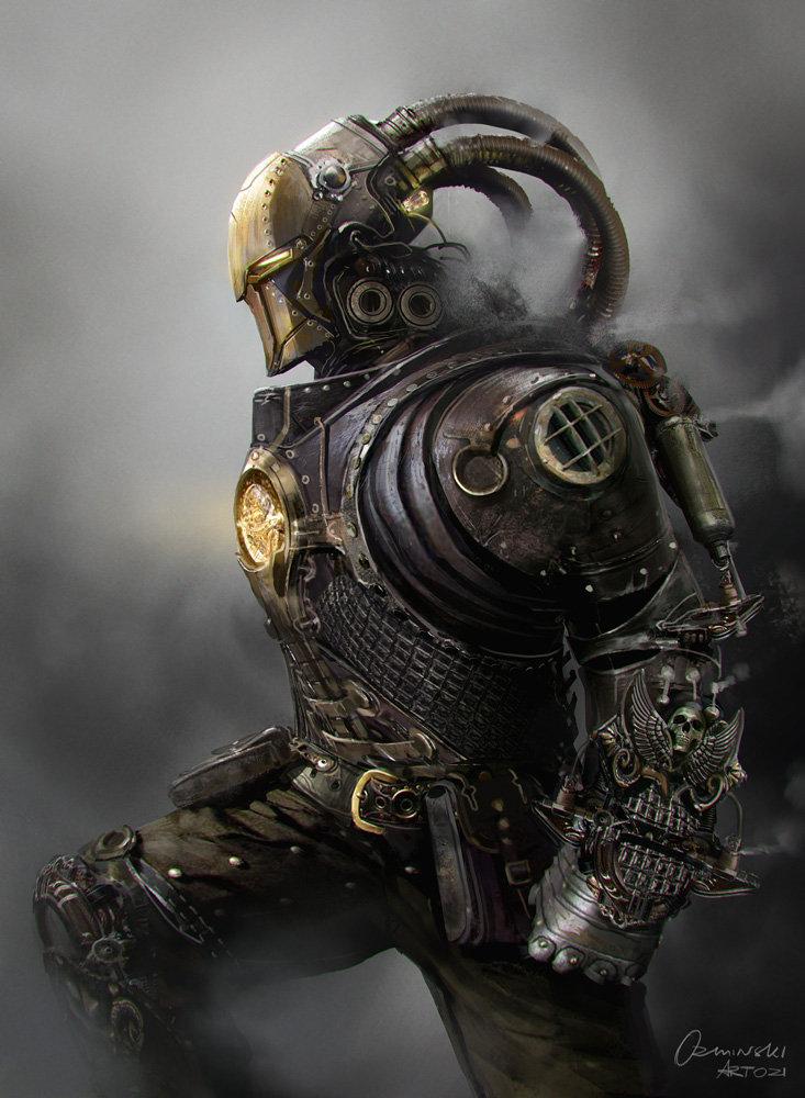 Steampunk Iron Man : steampunk, ArtStation, Steampunk, Mateusz, Ozminski