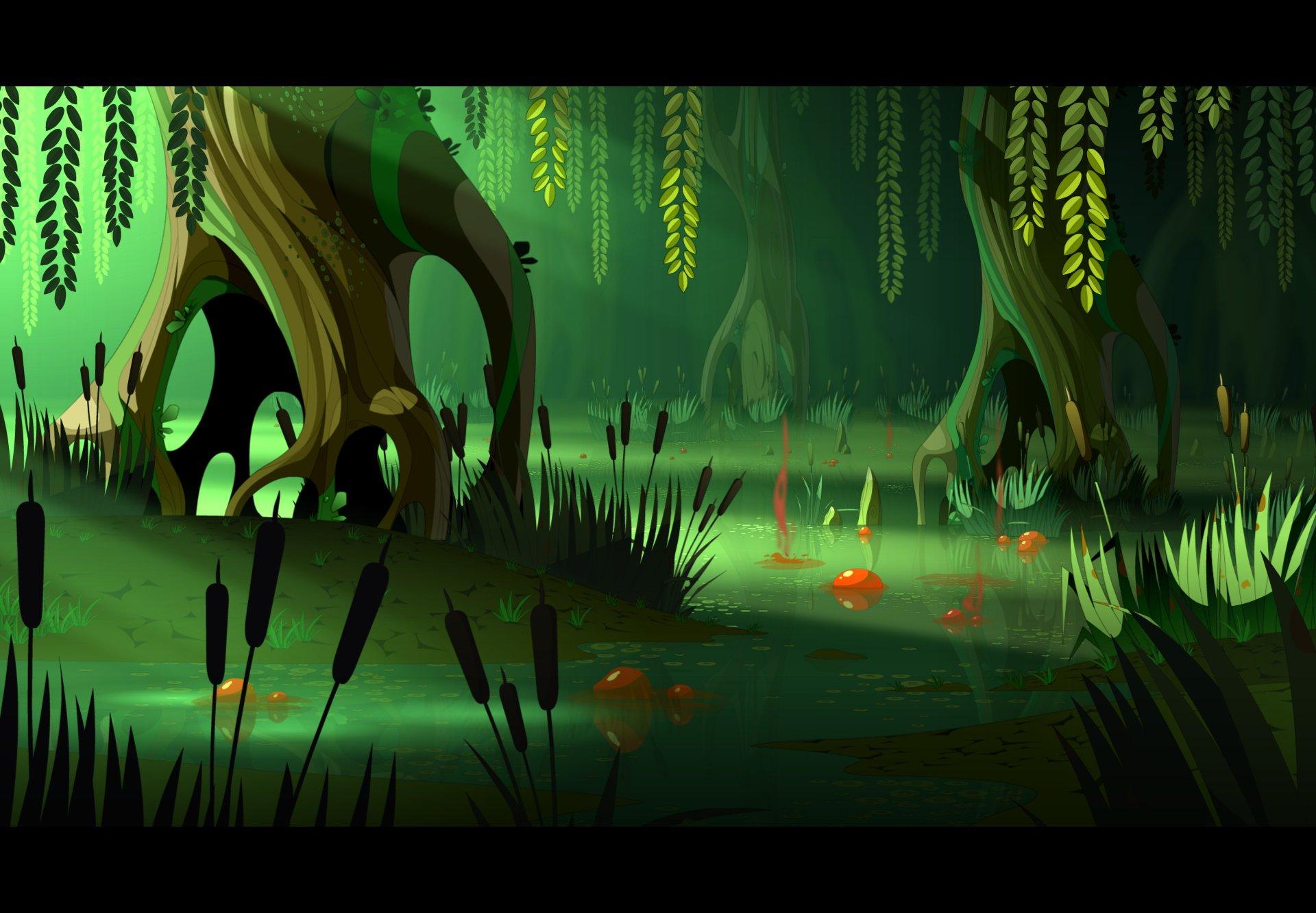 Cartoon Swamp Clip Art