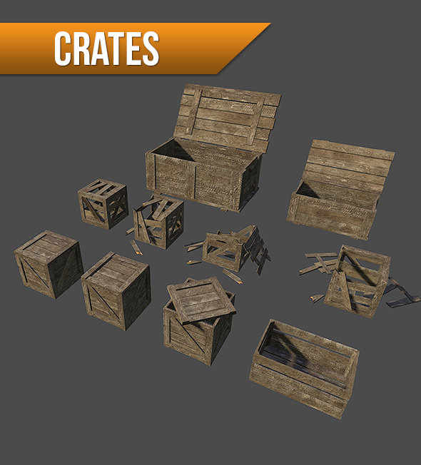 ArtStation  Wooden Crates  Game Props Marius M