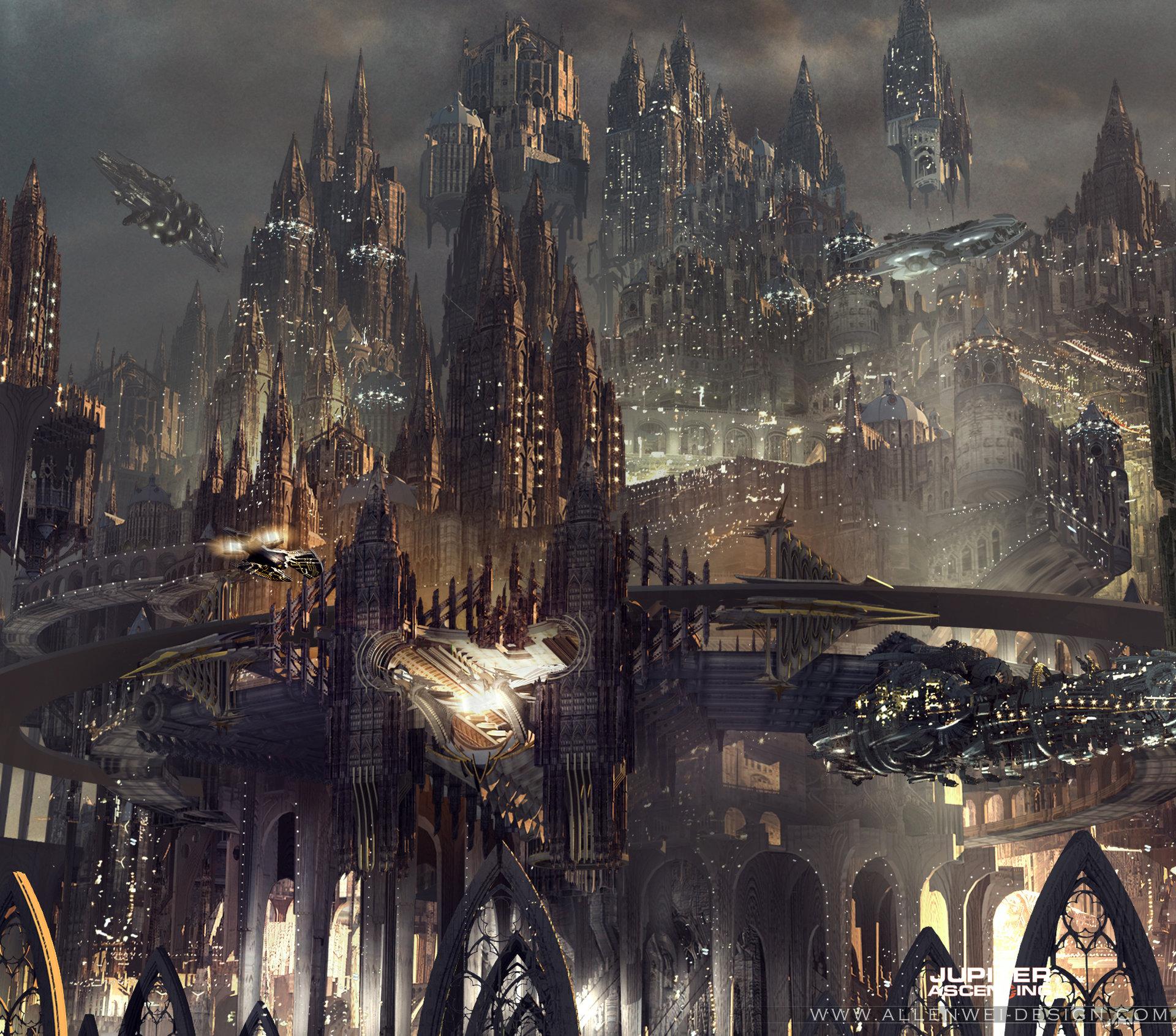 Futuristic Castle Concept Art