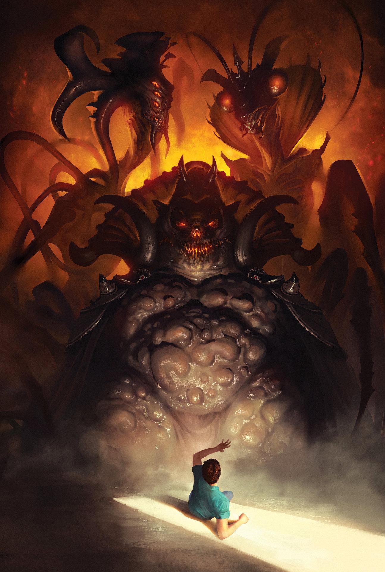 Artstation - Face Demons Simon Dubuc