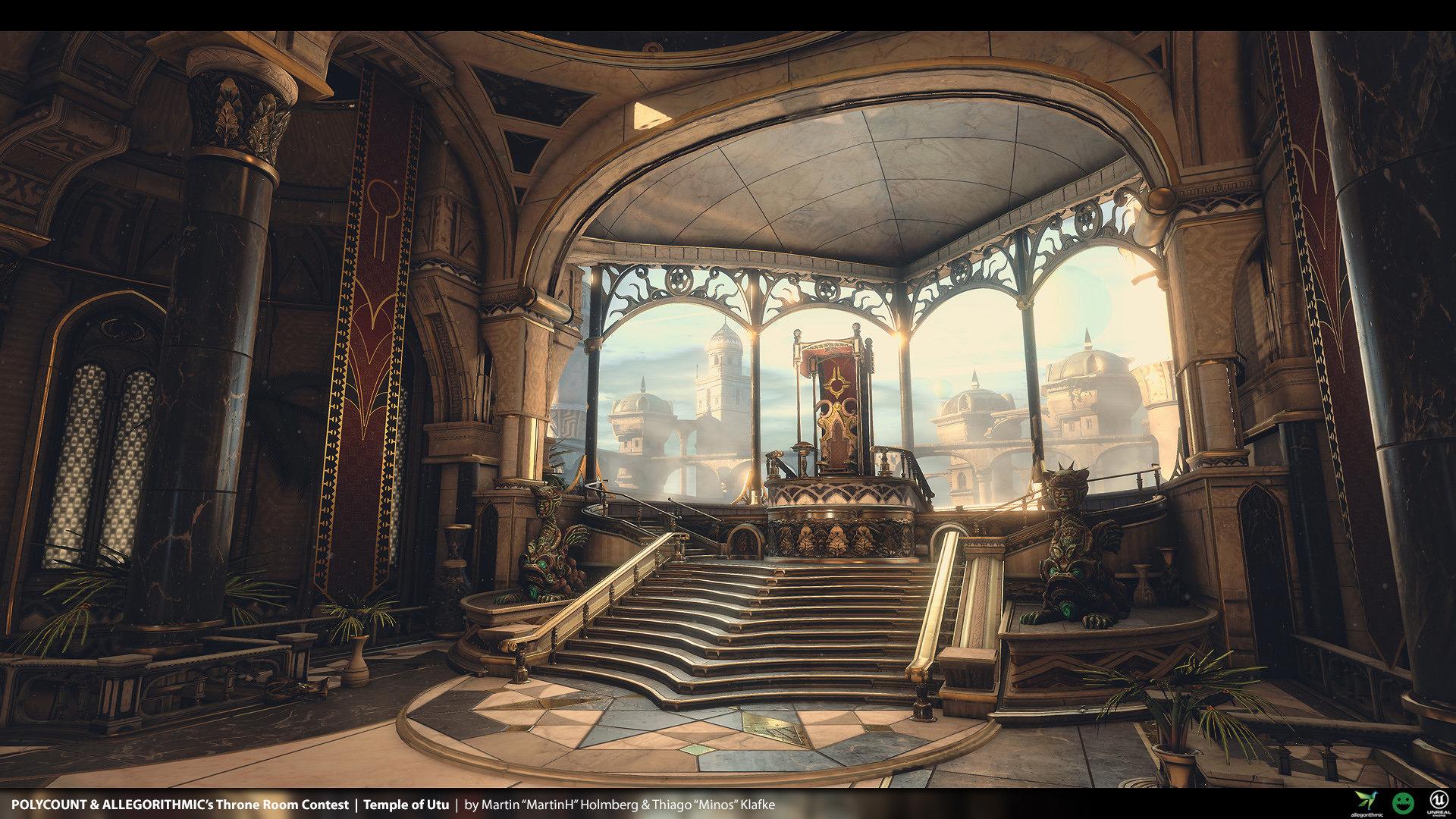 Artstation - Temple Of Utu Polycount Throne Room Contest Thiago Klafke