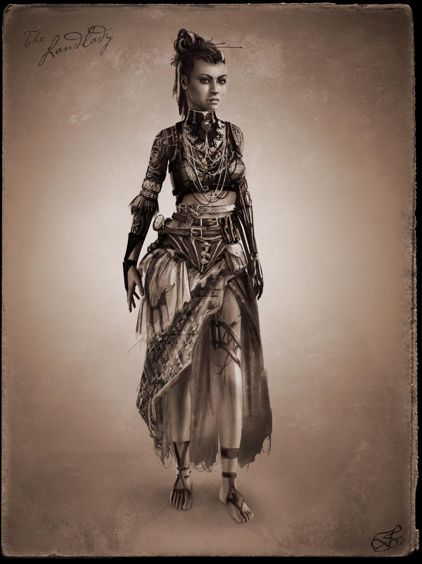 Female Steampunk Concept Art