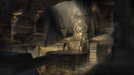 throne room mayan fantasy concept artstation artwork castle dark painting medieval wallpapers maya