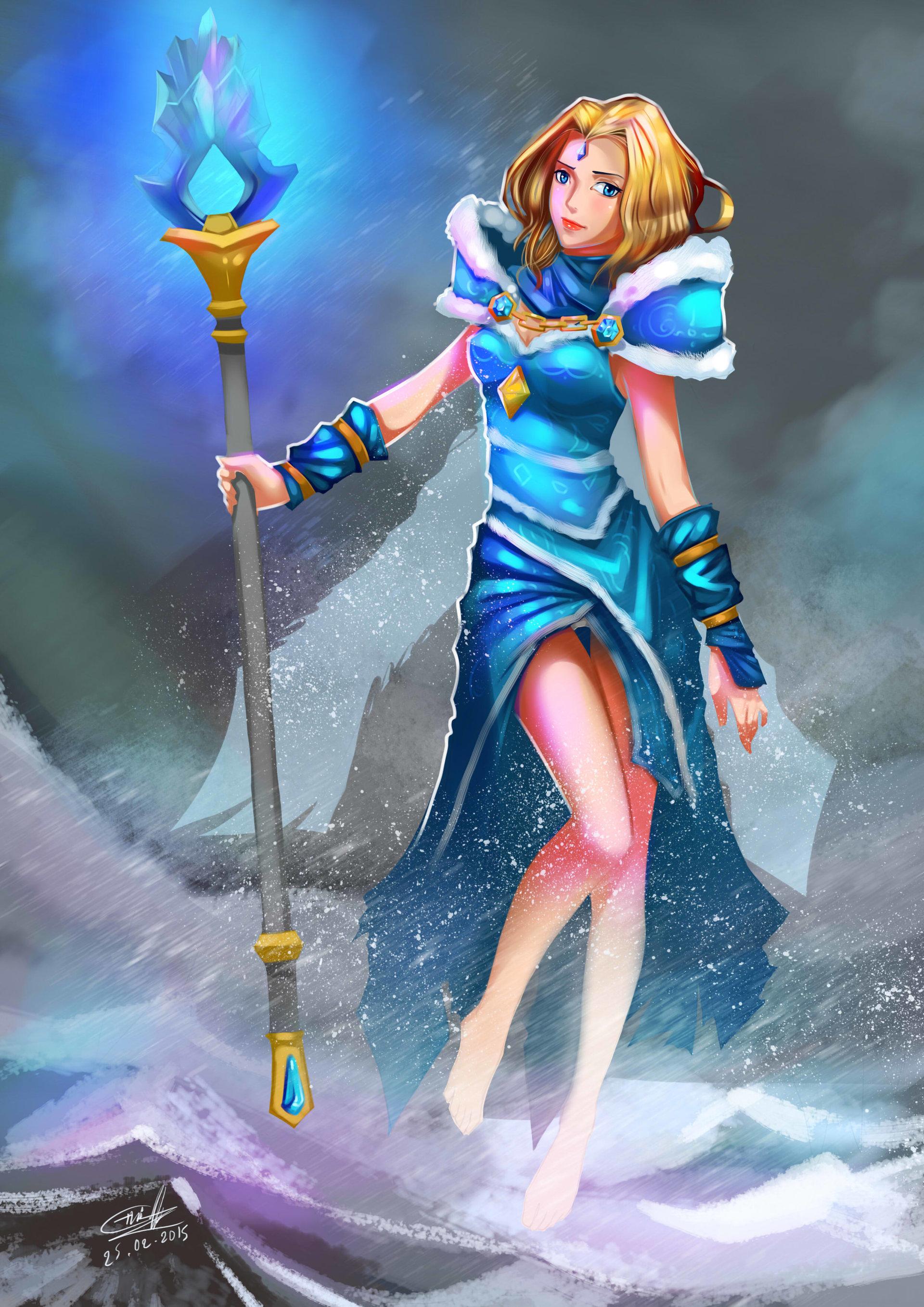 Artstation Crystal Maiden From Dota2 Sothina Khiev