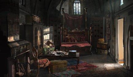 room renaissance gothic magic concept bedroom deviantart fantasy artstation medieval interior study rooms artwork places victorian bed living magical hide