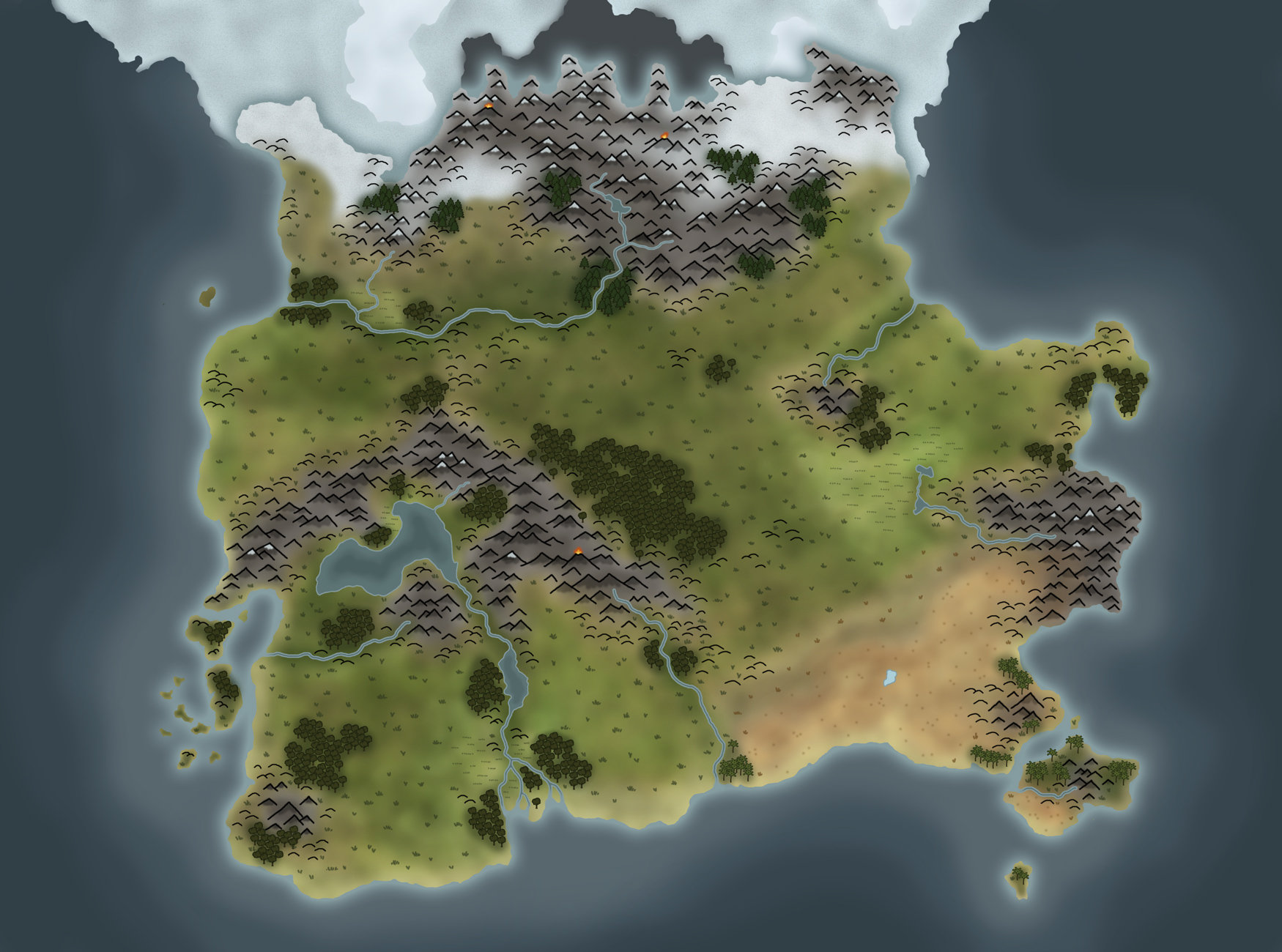 Arne Haschen Pathfinder Custom World Map WIP