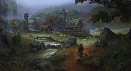 medieval village artwork european artstation