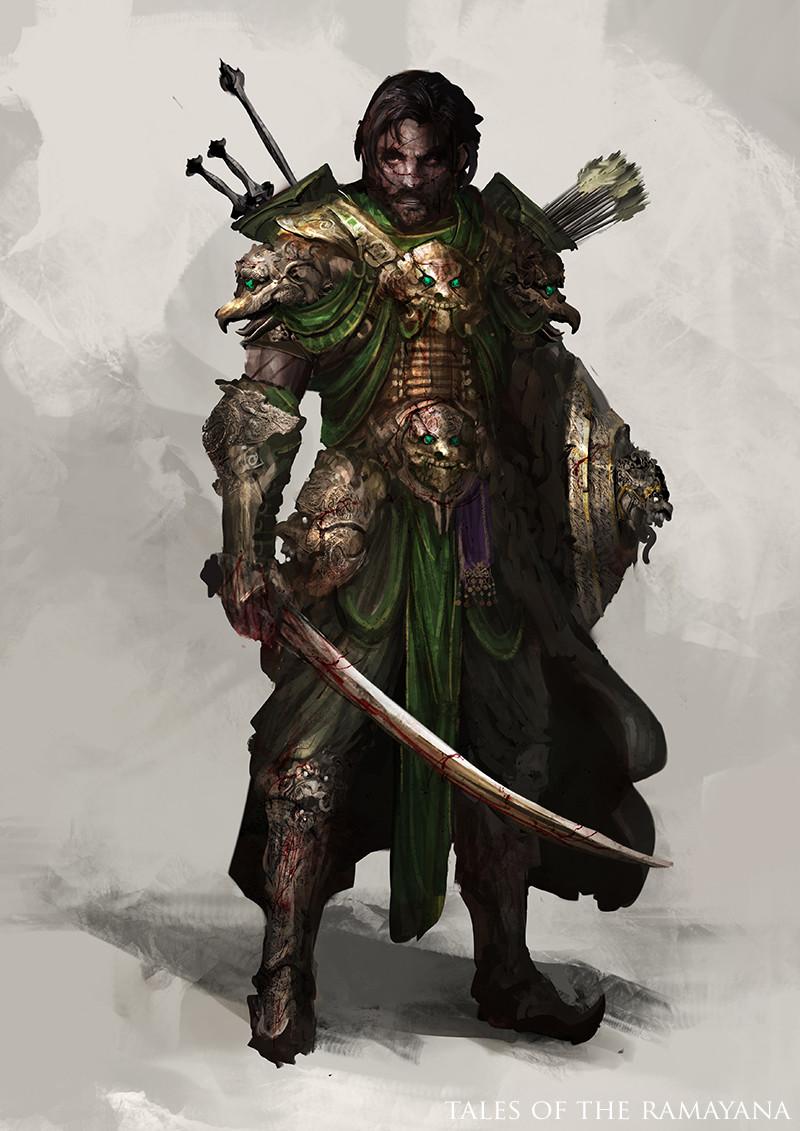 Artstation - Tales Of Ramayana Warrior Daniel Kamarudin