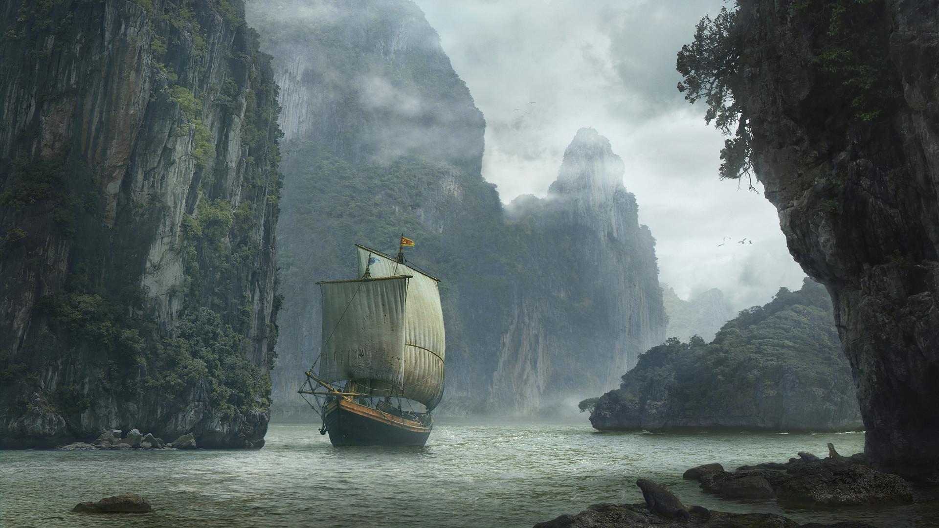 artstation - landscape with ship