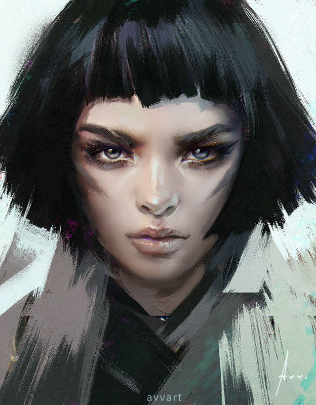 artstation - black hair aleksei