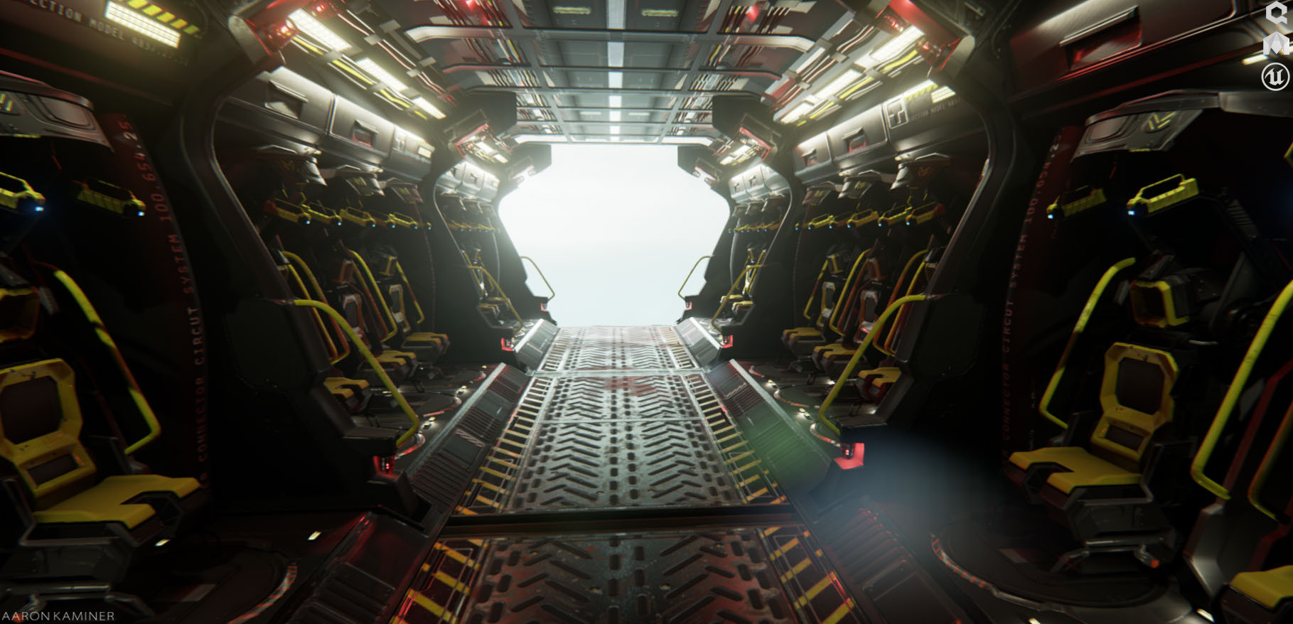 ArtStation  Drop Ship Interior Aaron Kaminer