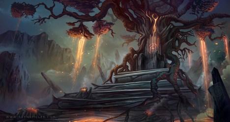 tree throne lava deviantart spiller alyn artstation digital artwork deviant final inspirations drawings comments favourites