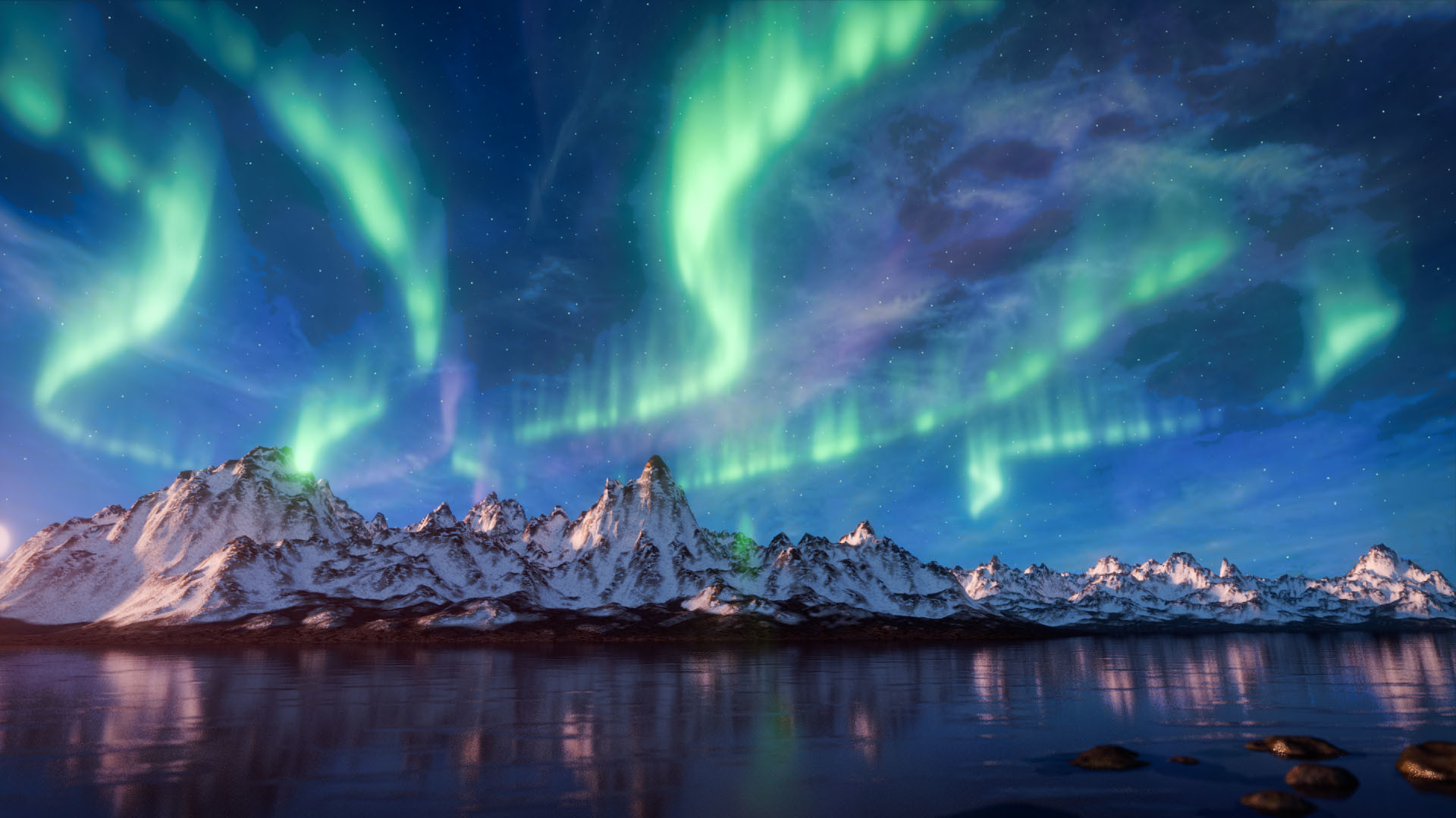 Artstation - Aurora Borealis Steve Lund