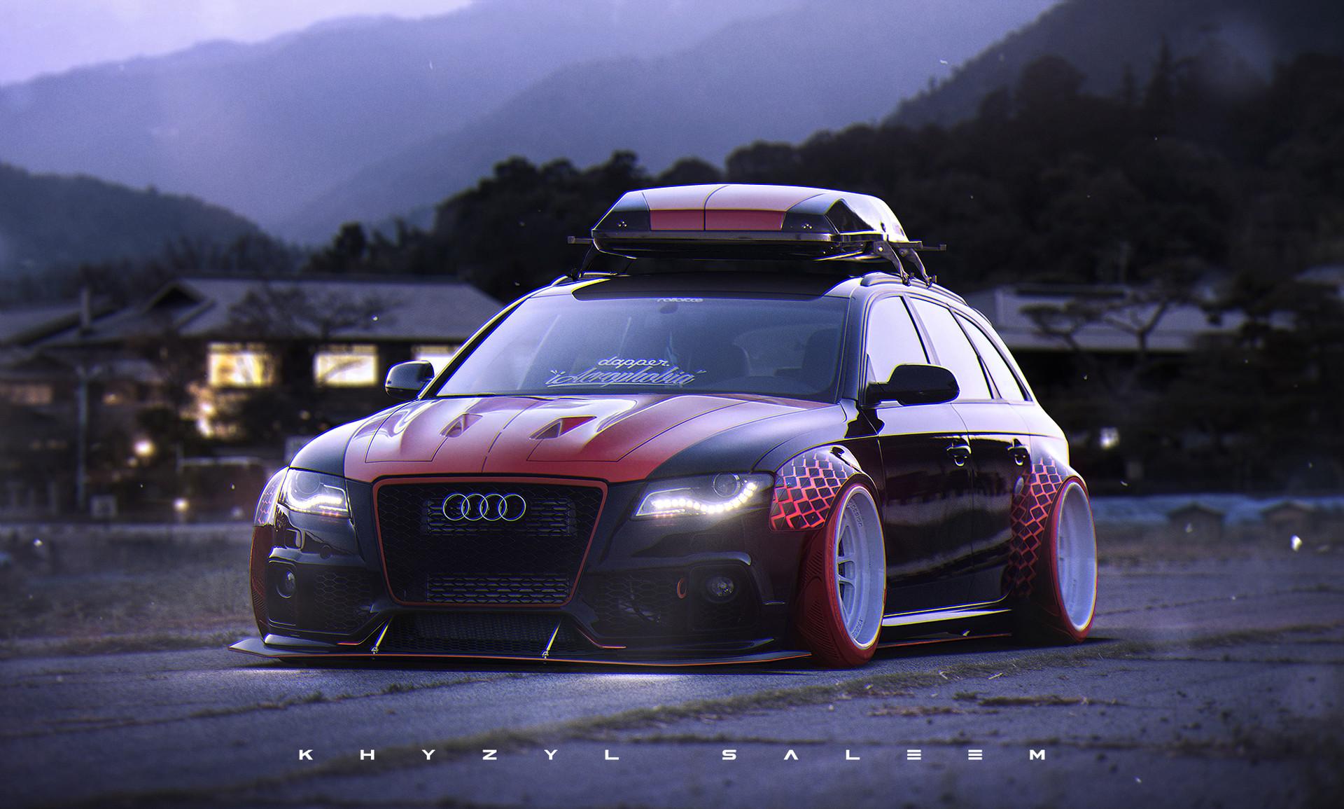 Audi Rs3 Wallpaper Hd Artstation Bmw Audi Mashup Khyzyl Saleem