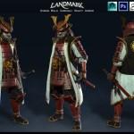 Artstation Human Male Samurai Heavy Armor Satoshi Arakawa