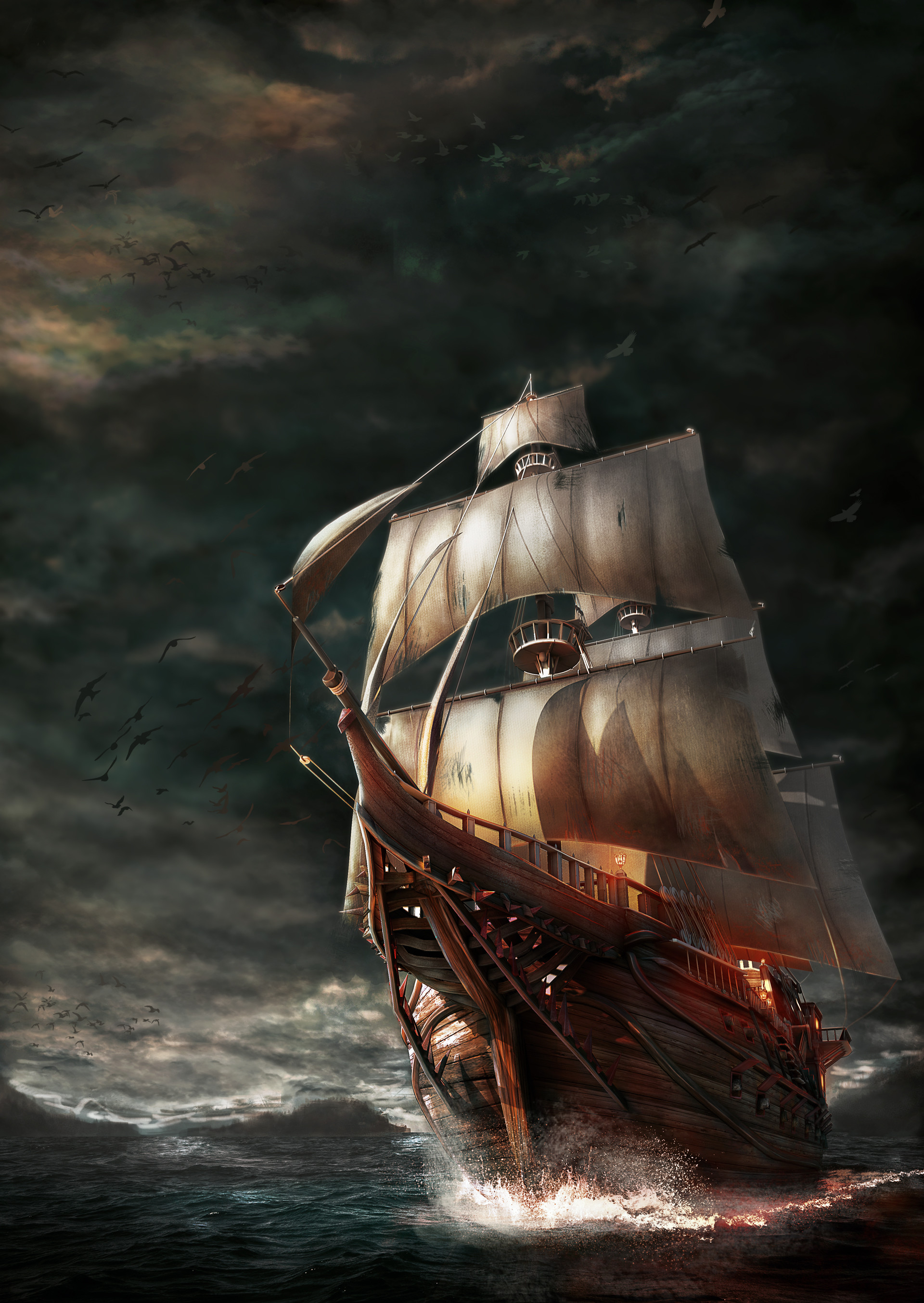 Pirate Ship Storm : pirate, storm, ArtStation, Pirateship, Storm,, Hakan, Aydin