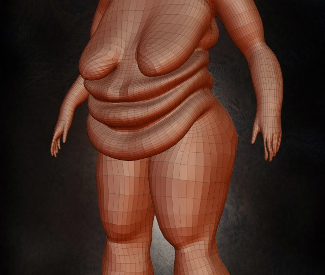 Anatomy Of A Fat Woman Model Modeling And Retopology Using Zbrusg And Photoshop Yacine Brinis The Entertainment Designer Retopology