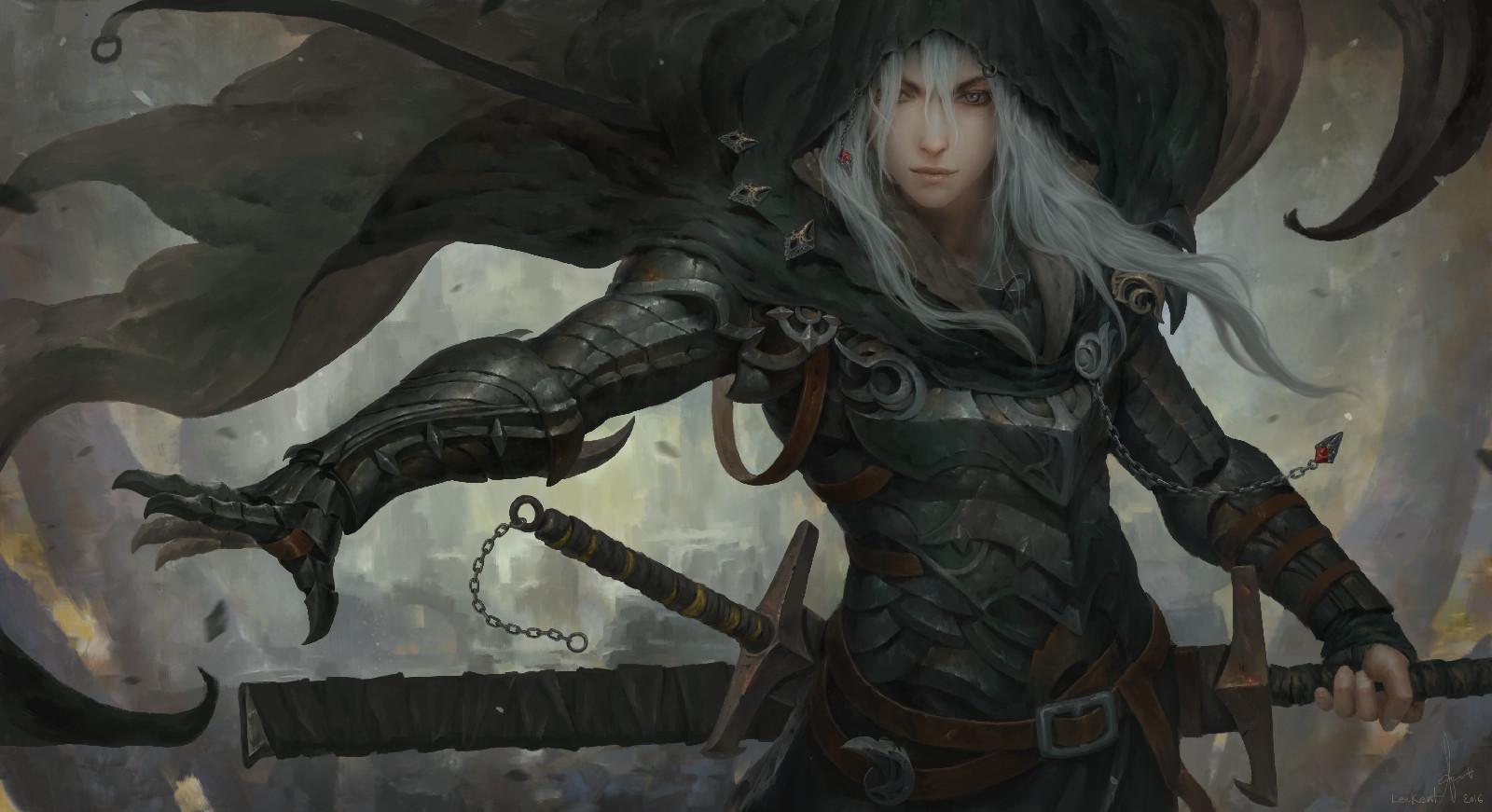 Anime Girl Wallpaper White Haired Demon Guy Artstation Sin Of Human Lee Kent
