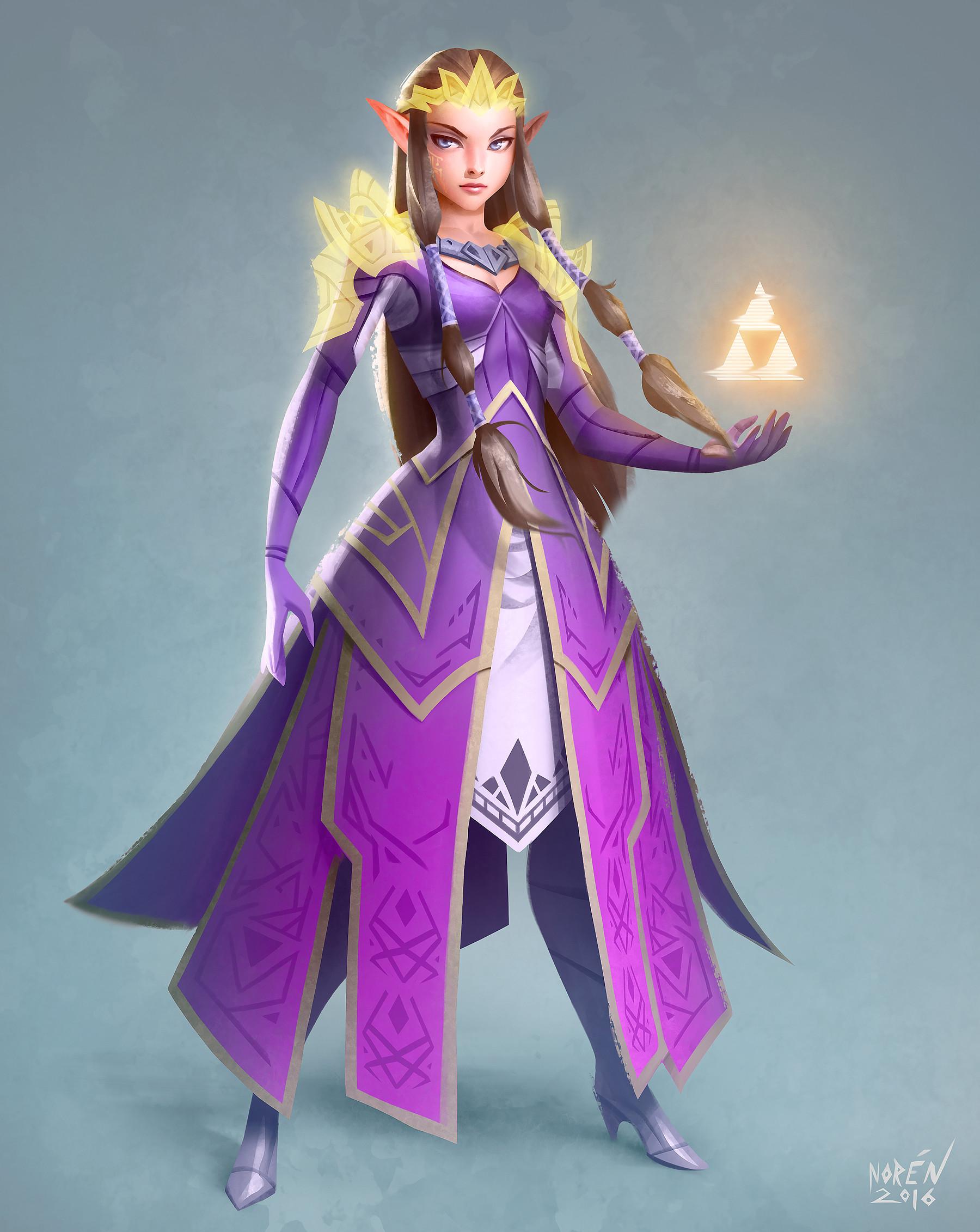 Zelda Ocarina Of Time 3d Wallpaper Artstation Princess Zelda Magnus Nor 233 N