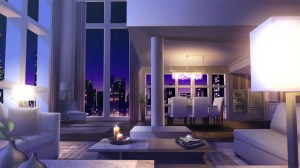 anime night livingroom backgrounds rie cenario grindall character quarto