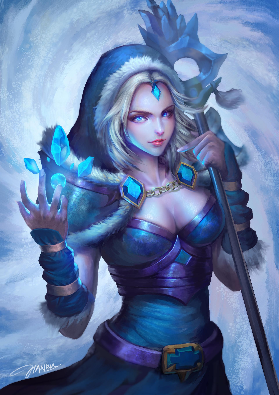 Crystal Maiden Dota 2 Fan Art