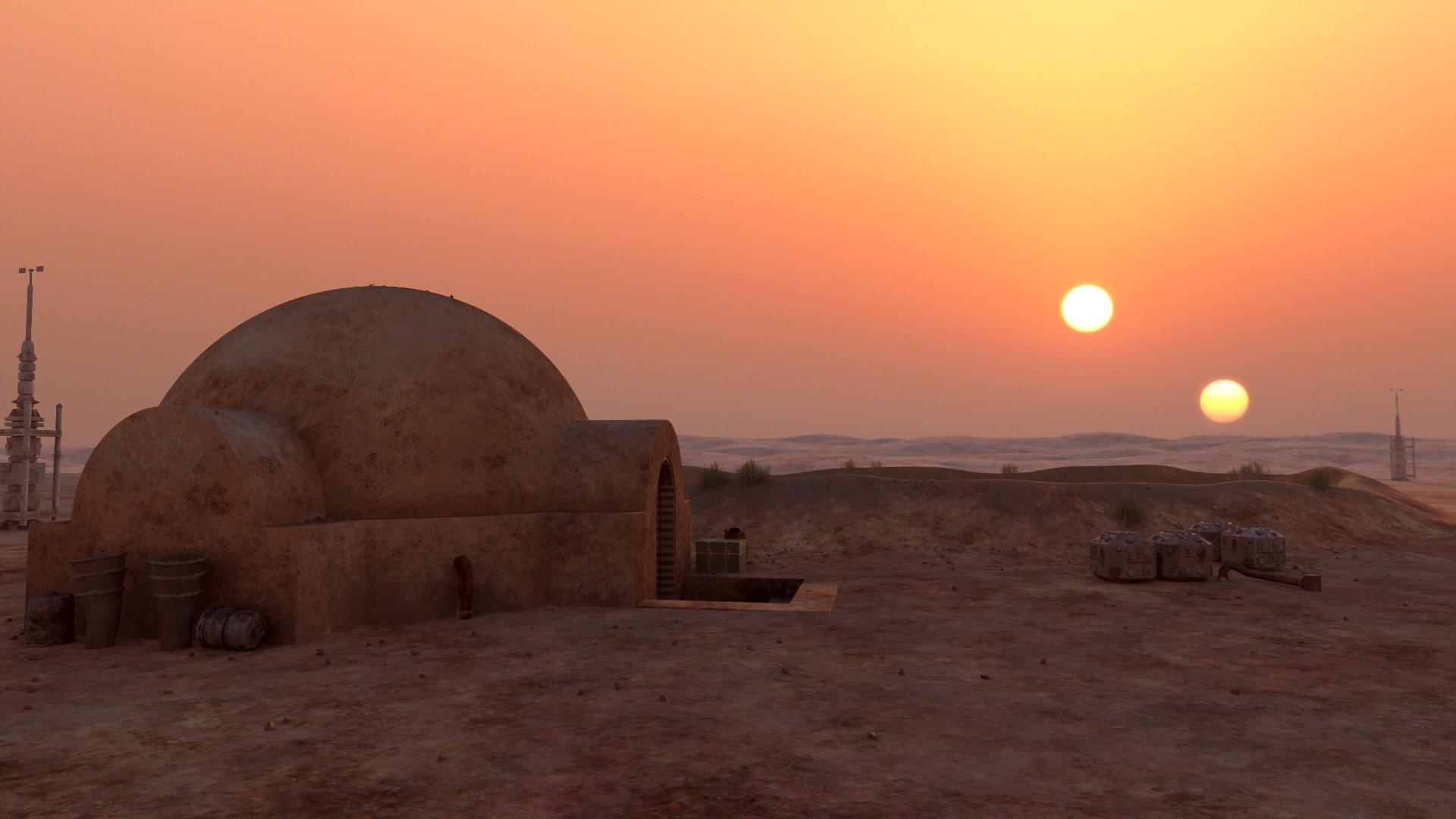 Artstation - Tatooine Moisture Farm Benoit Duroi