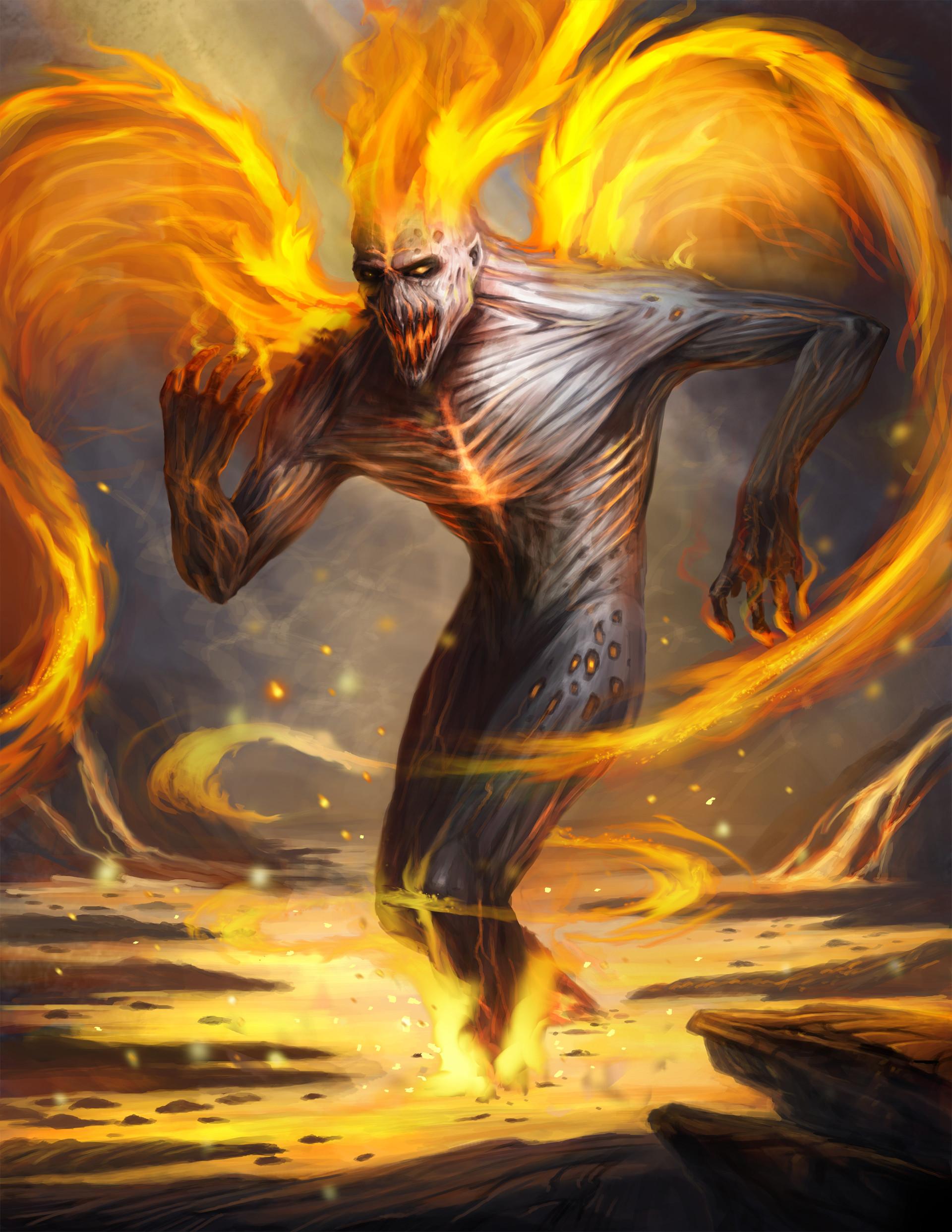 artstation fire demon chalmer