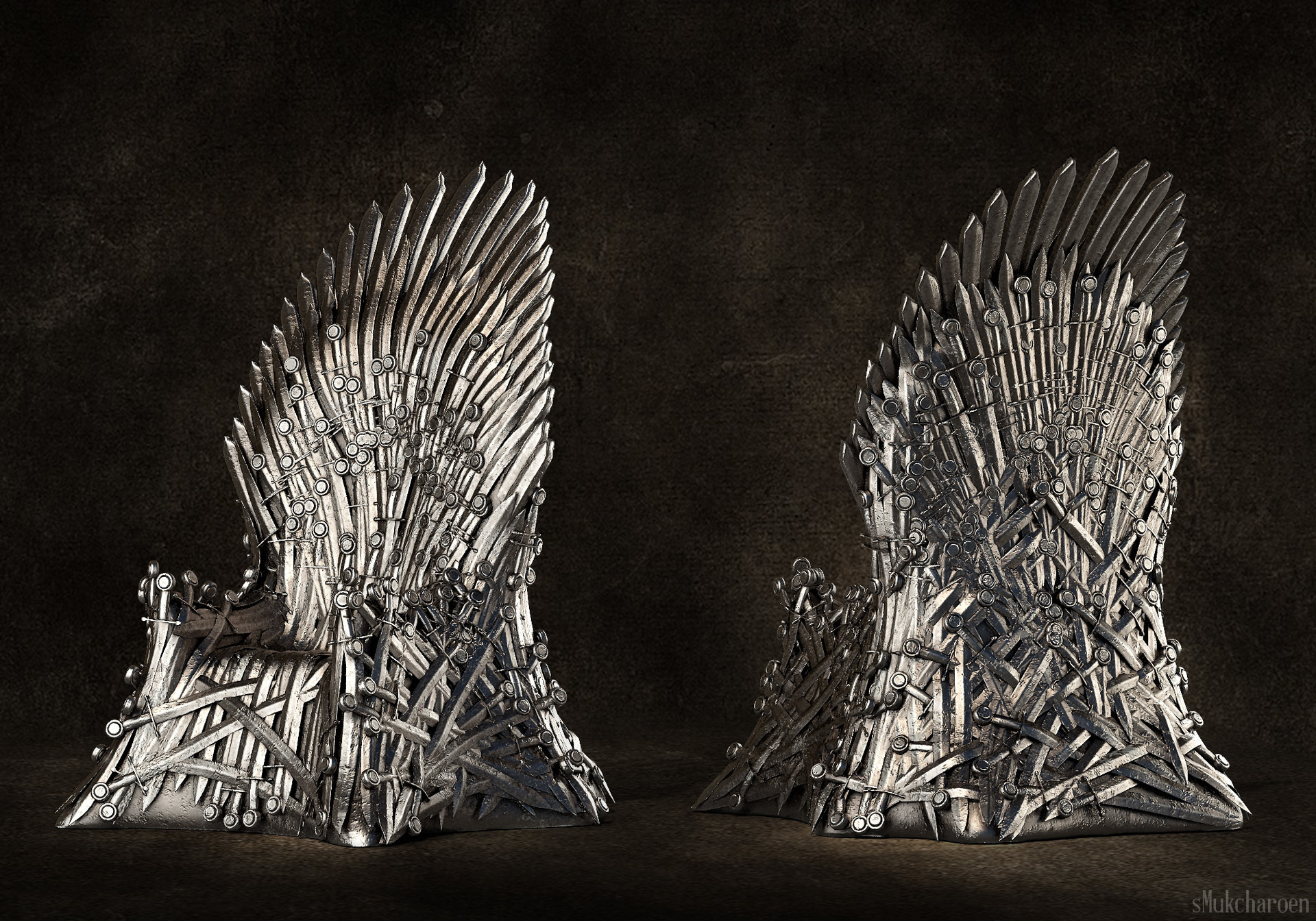 iron throne chair kid in wheelchair artstation the from game of suphawat