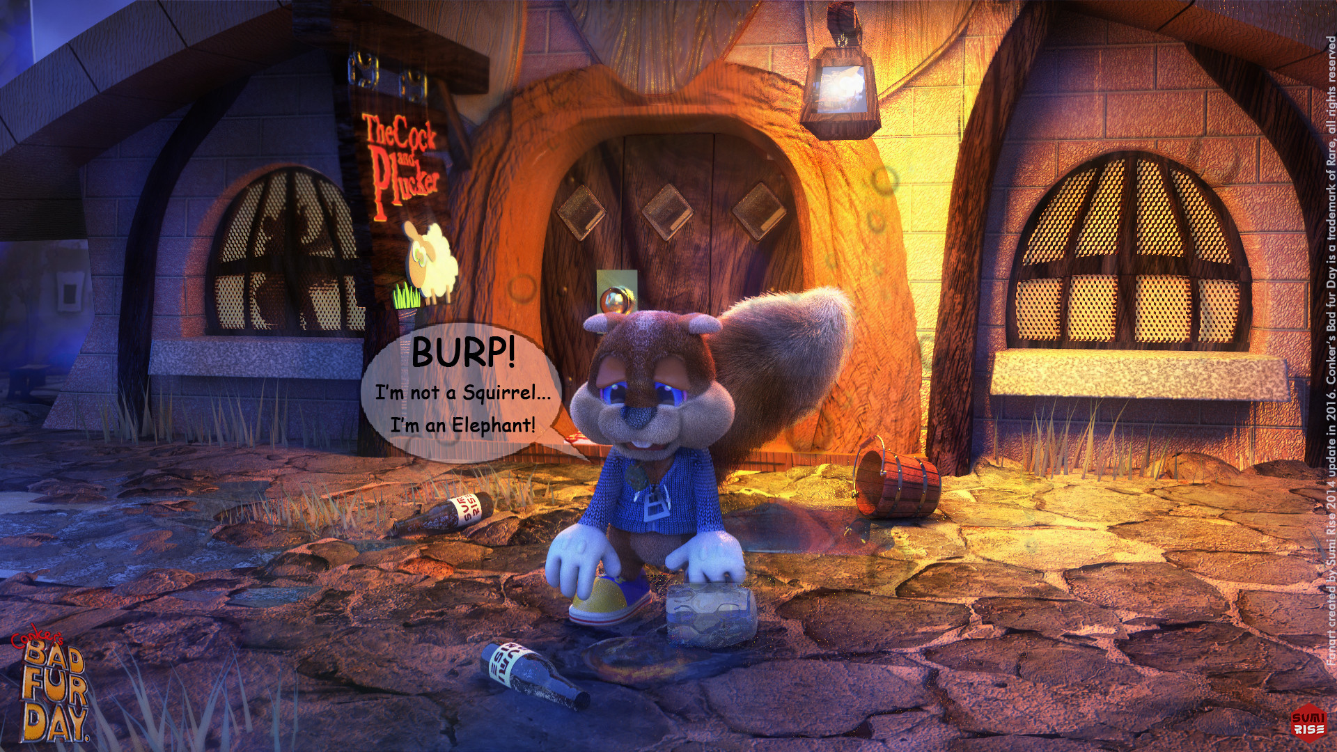 Art Wallpaper Hd Artstation Conker S Bad Fur Day Antonio Bocchino