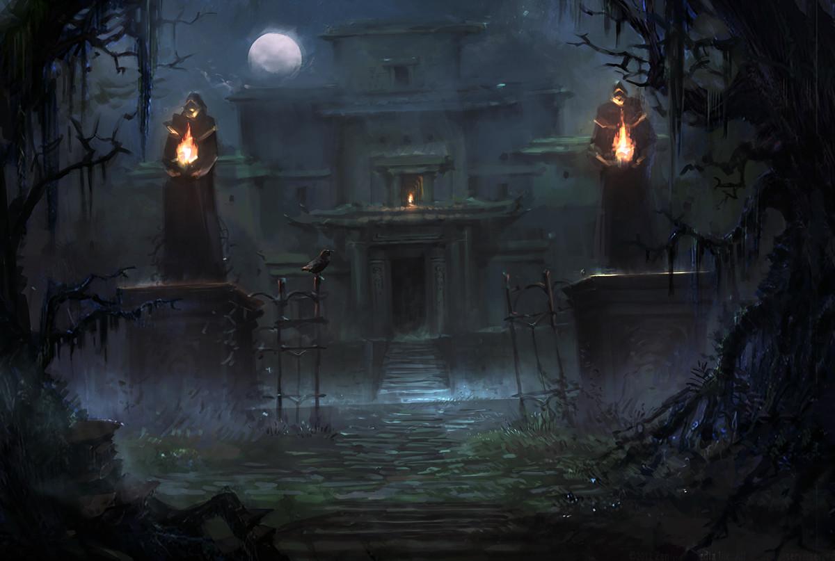 ArtStation  Creepy Mansion Nele Diel