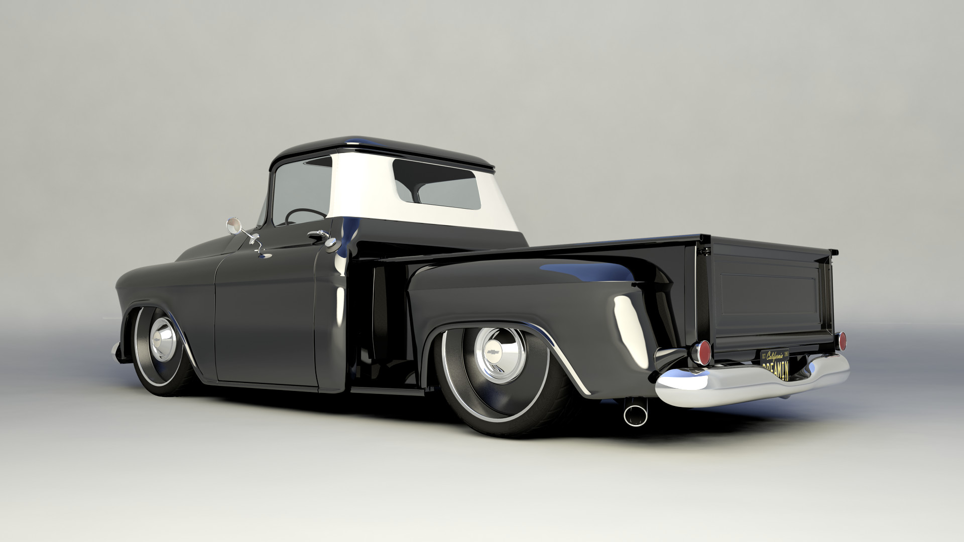 hight resolution of jason hensel 57 pickup black