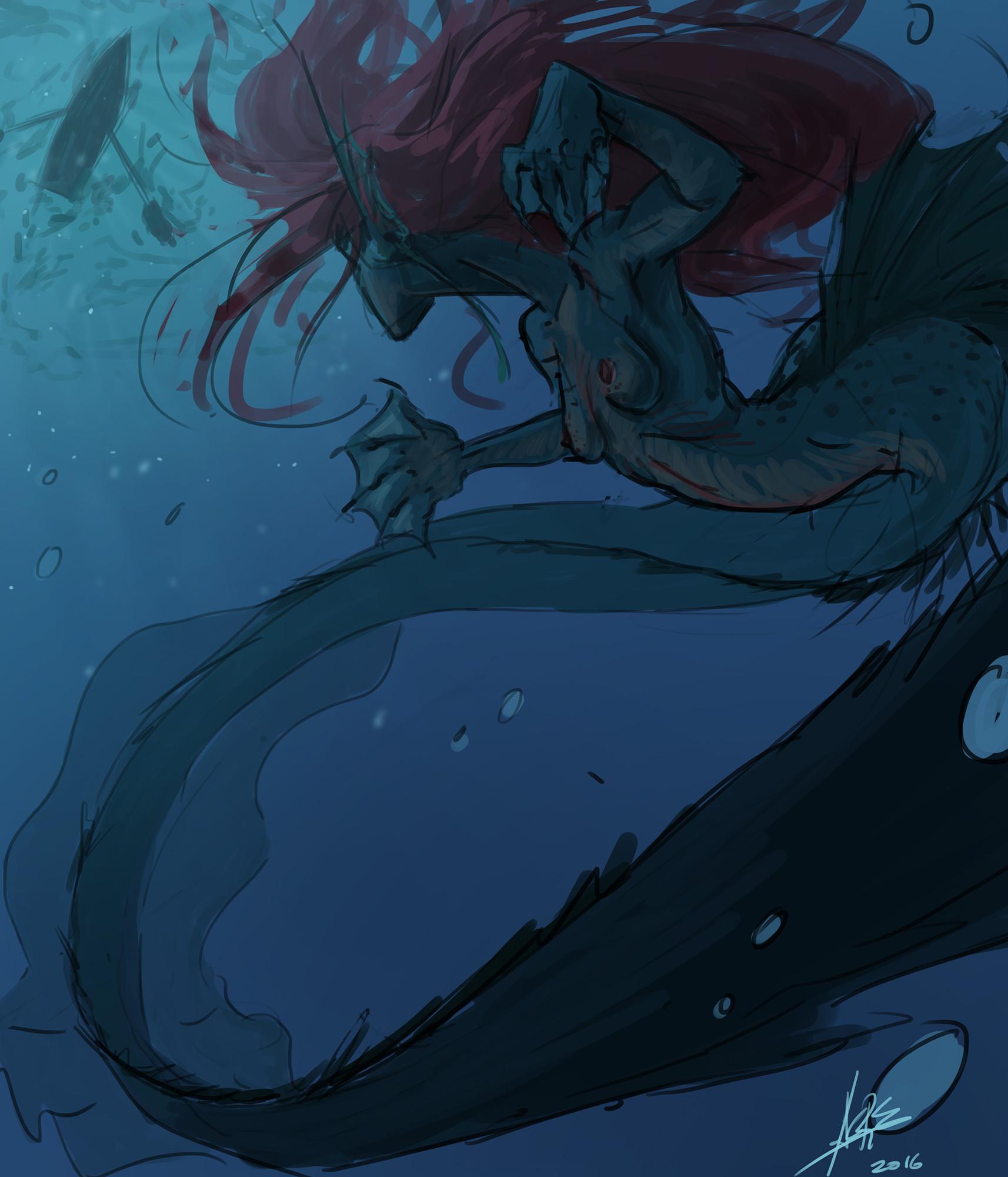 Artstation - Mermaid Concept Ariel' Anger Andr