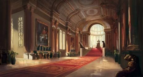 throne room throneroom artstation
