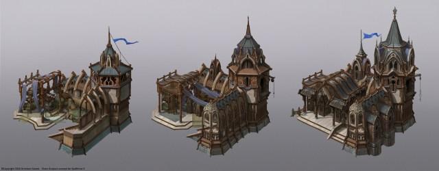 Vladimir Krisetskiy Spellforce 3 Elven buildings