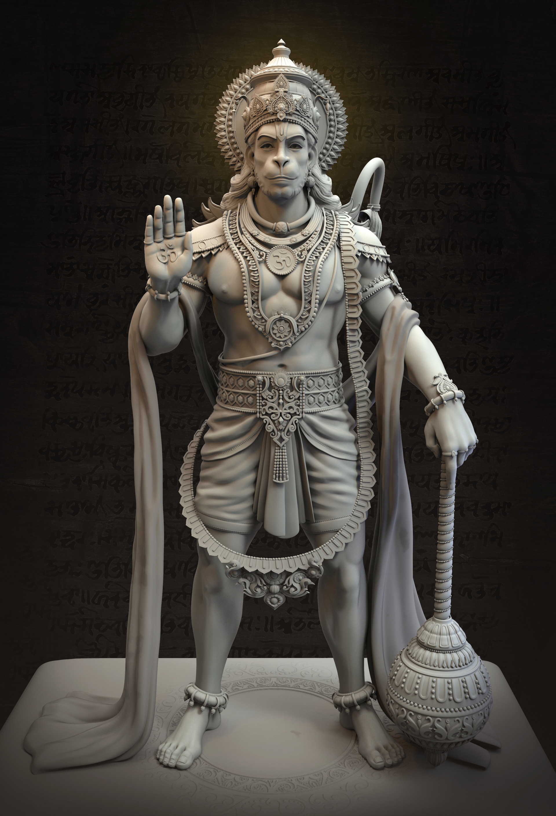 artstation vijayanjaneya statue harshal