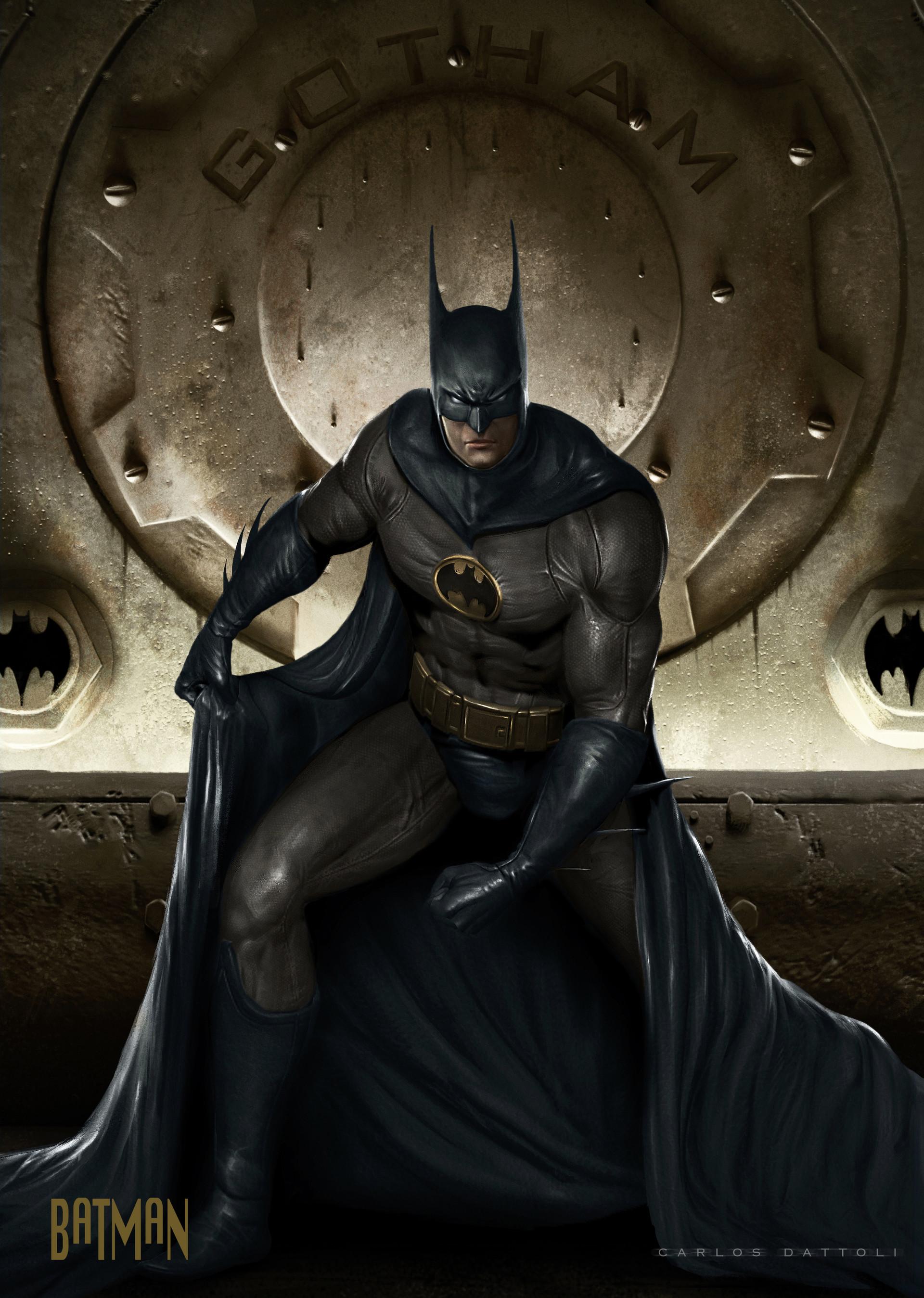 Artstation - Batman Pepsicards Dc Carlos Dattoli
