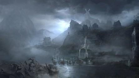 fantasy village artstation artwork