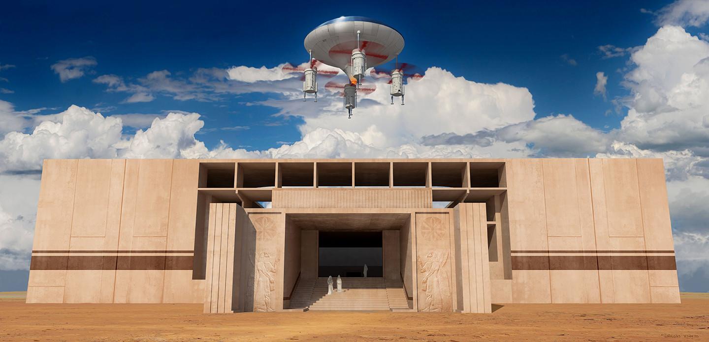 ArtStation  Ezekiels Spaceship Giorgos Tsolis