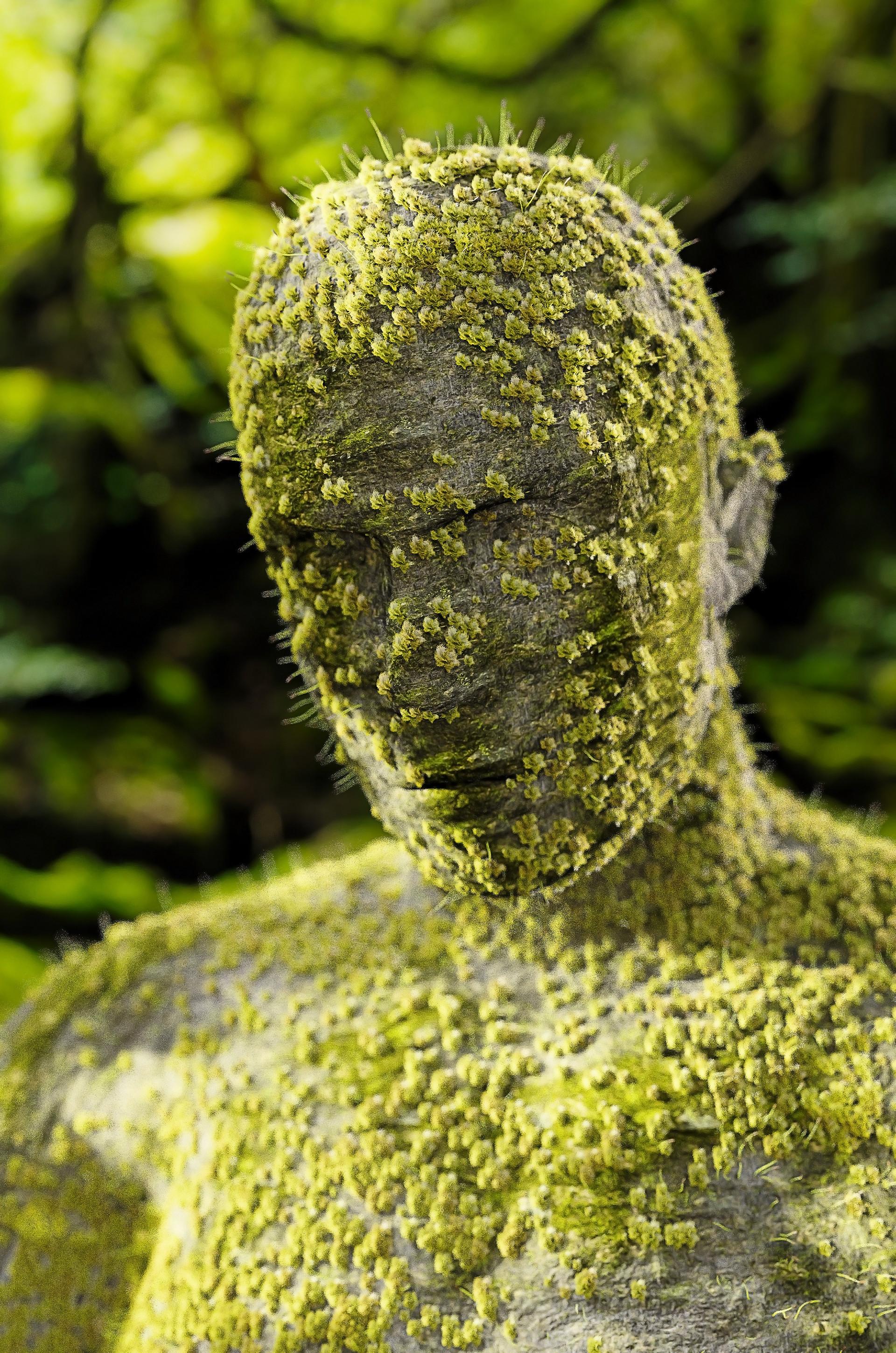 Artstation Moss Statue Adam Galambos