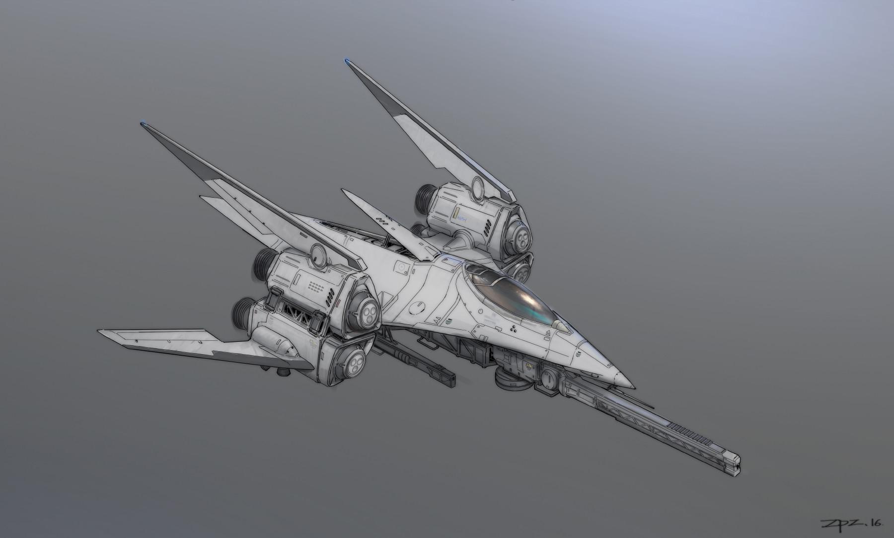 Artstation - Series Of Spaceship Design Pengzhen Zhang