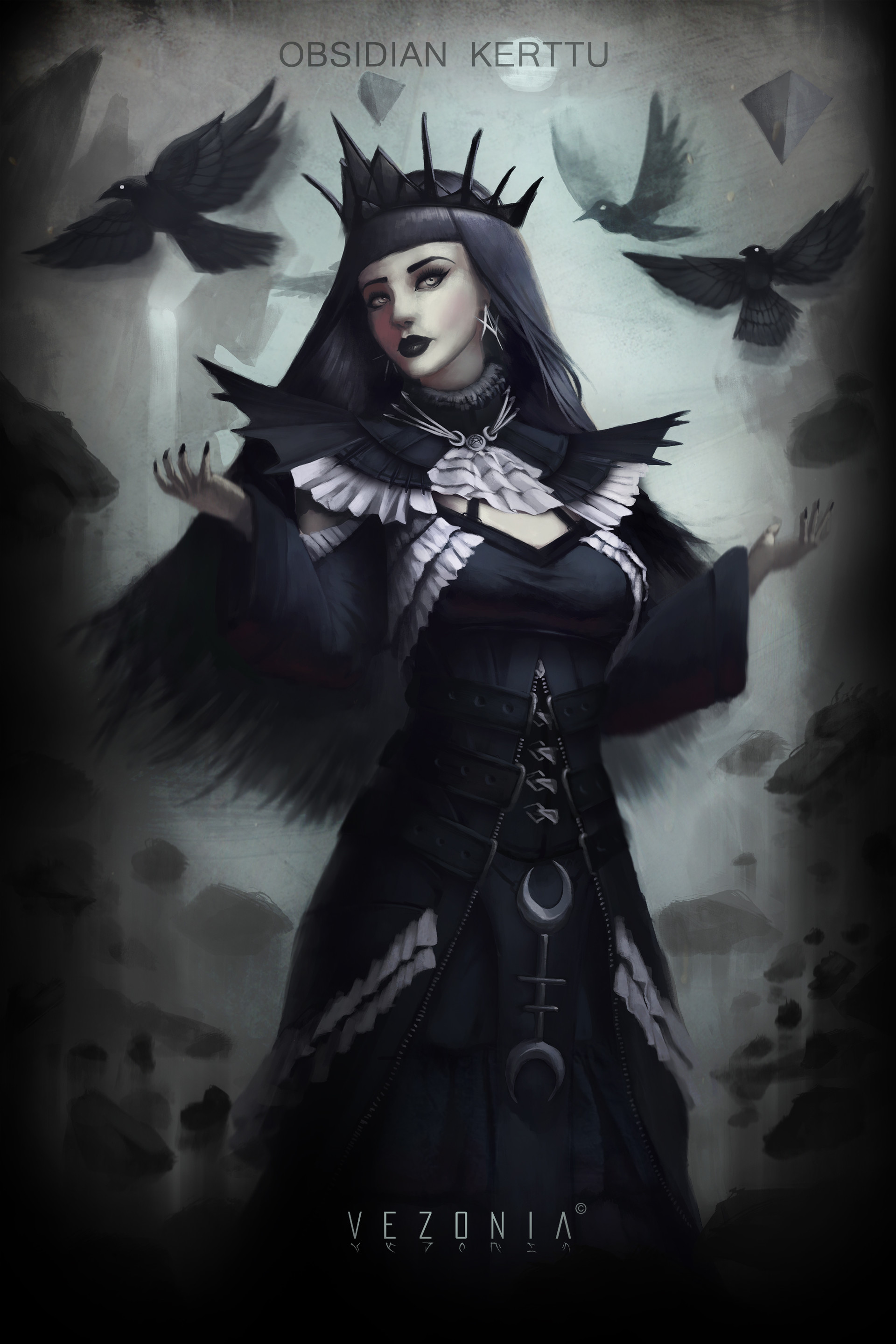 Gothic Witch Concept Art