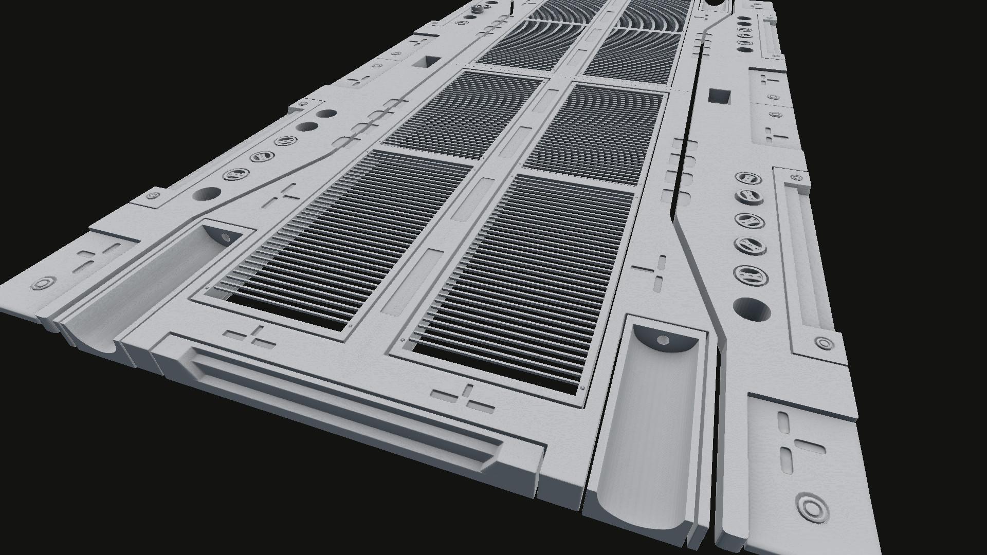 Gavin Saunders 3D Artist Modular Sci Fi Floor
