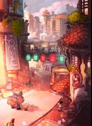 ArtStation Sci Fi/Fantasy City Domen Kozelj