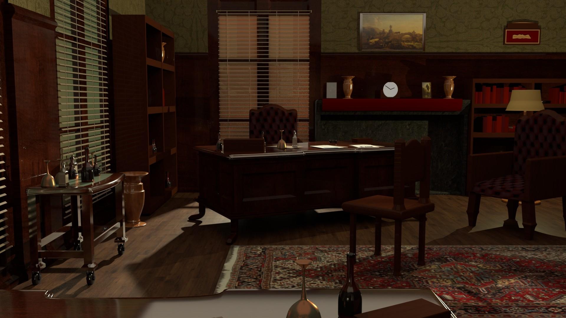 Tyler Klimek The Godfather's Office VR Scene