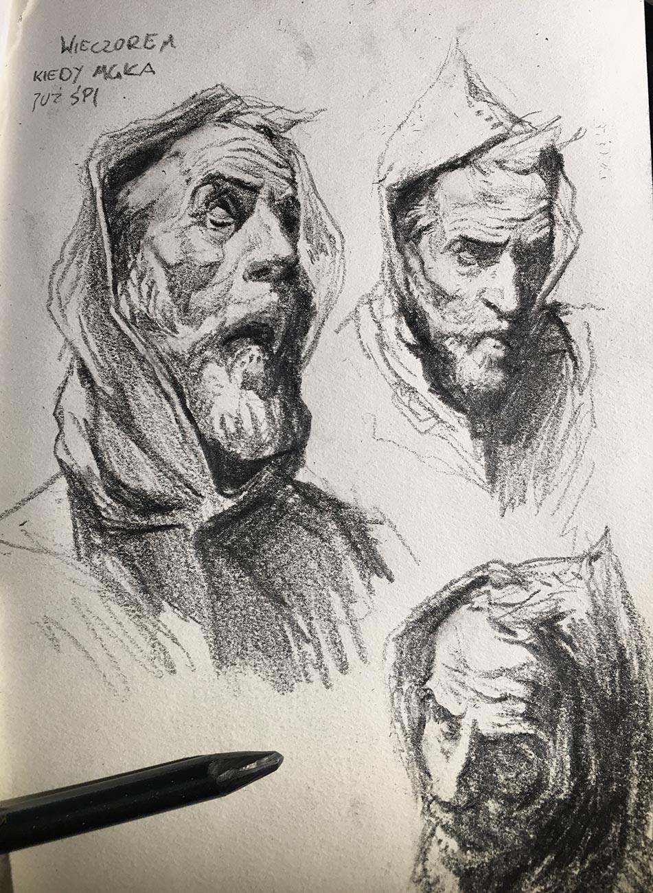 Artstation - Spanish Inquisition Sketch Tomek Larek
