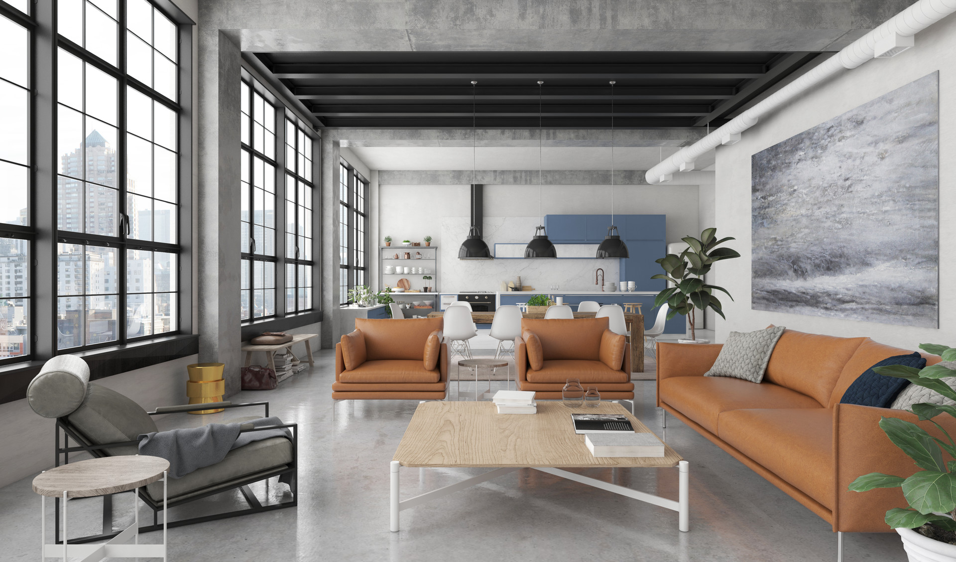 Artstation - Industrial Loft Style Javier Wainstein