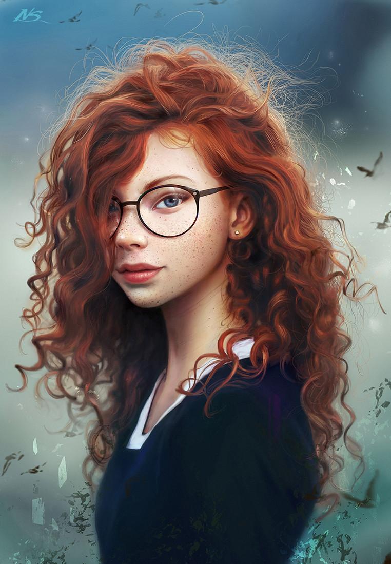 artstation - red hair wizard